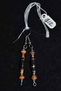 paper beads on wire