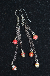 chain dangles with paper beads